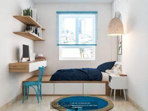 Thiết nội thất màu xanh