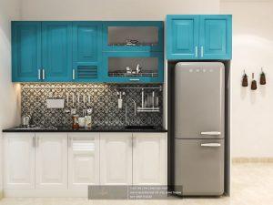 Thiết kế nội thất màu xanh