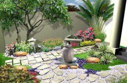 Tiểu cảnh sân vườn mini độc đáo