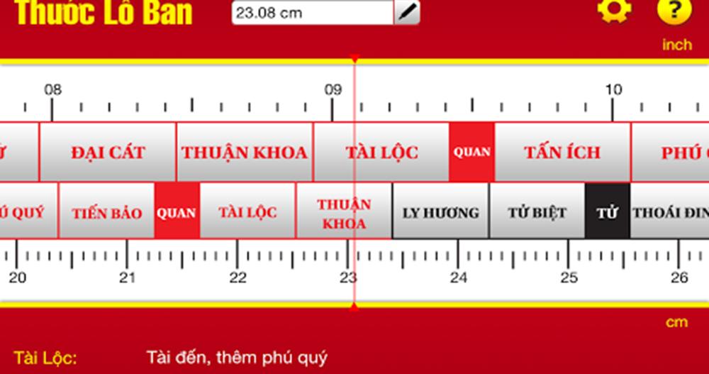 Giới thiệu thước lỗ ban phong thủy trong thiết kế nội thất