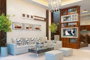 Mẫu kệ này là sản phẩm thích hợp cho những ngôi nhà có không gian phòng khách nhỏ.
