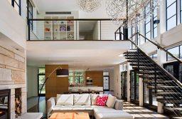 Tầng lửng đủ diện tích, có thể đưa hết các không gian chức năng của tầng trệt lên tầng lửng như bếp ăn, phòng khách.