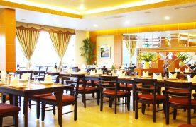"""Theo như nguyên tắc """"50 – 30 – 20"""" thì diện tích dành cho khu vực ăn uống của thực khách chiếm phần lớn và được chú trọng trong cách thiết kế nội thất."""
