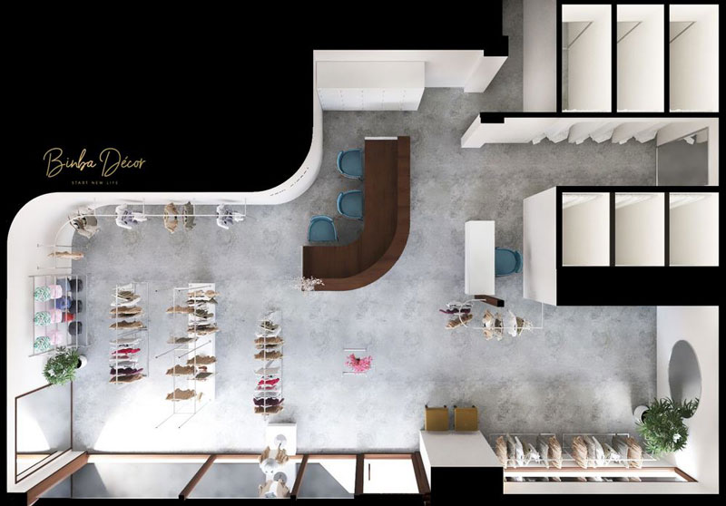 Thiết kế showroom cửa hàng quần áo