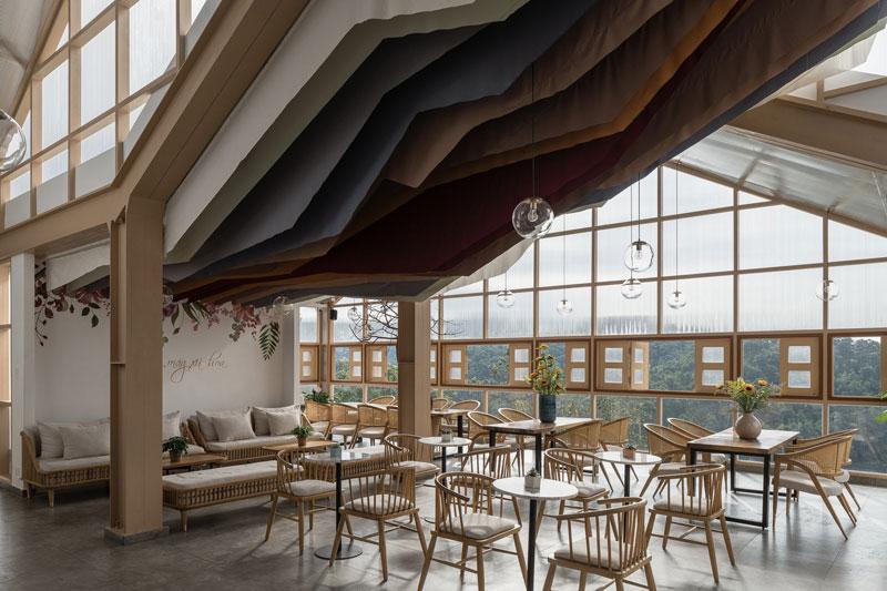 quán cafe nhà kính nội thất