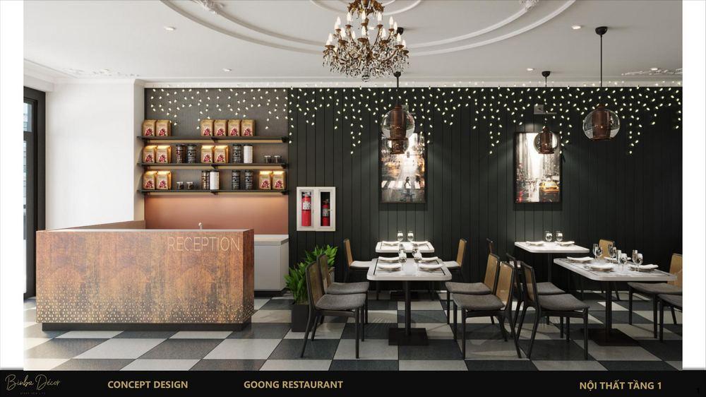 thiết kế không gian cơ sở kinh doanh quán cafe 1
