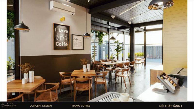 Ý tưởng mở quán cà phê thiết kế đẹp