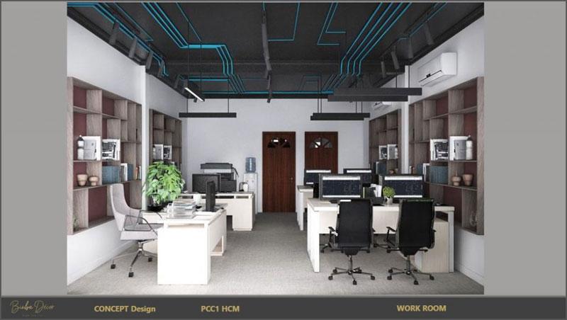 set up văn phòng làm việc nhân viên 3