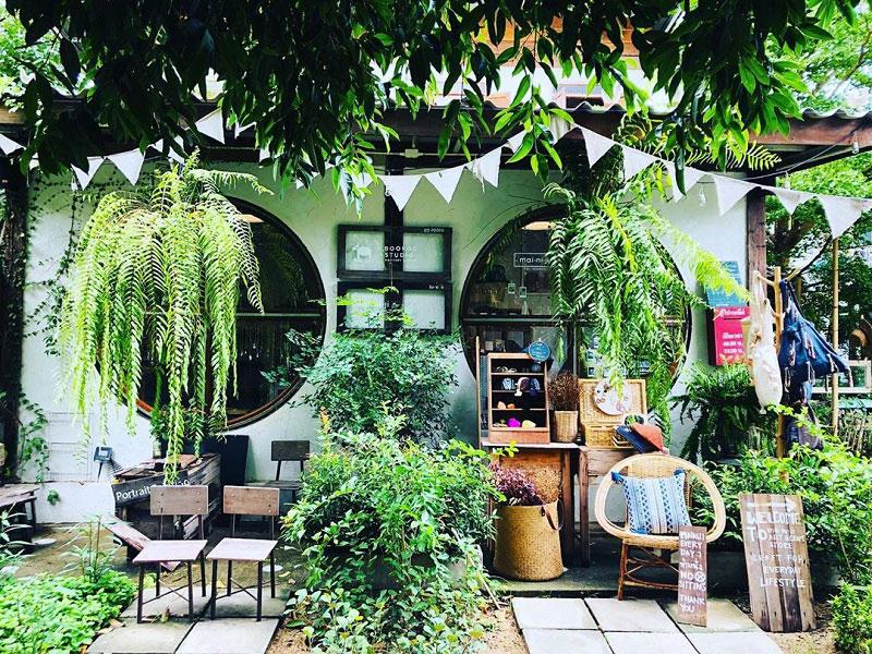 thiết kế quán cafe sân vườn 1n