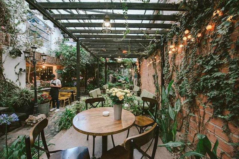 thiết kế quán cafe sân vườn 3