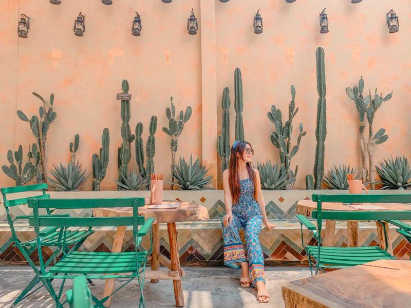 thiết kế quán cafe sân vườn moroccan