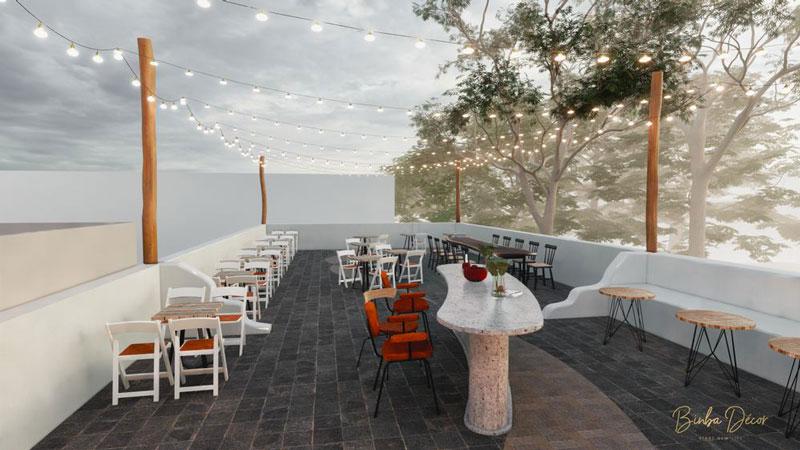thiết kế quán cafe sân thượng đẹp 3