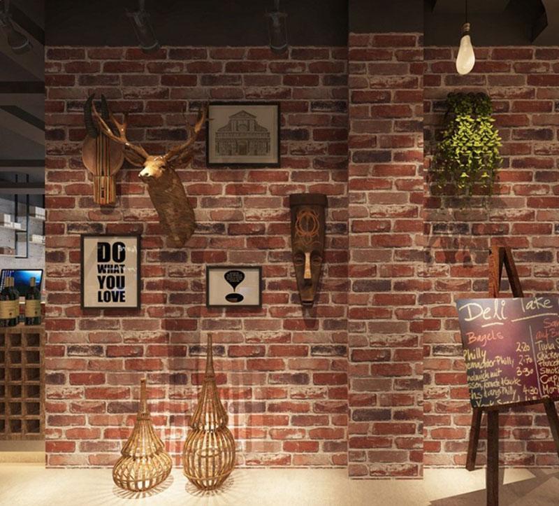 Thiết kế quán cafe tường gạch 3