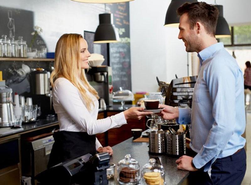 thiết kế quán cafe pha máy