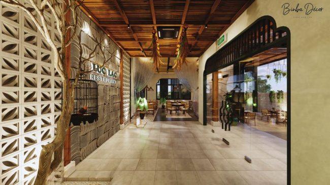 Cửa chính trong nhà hàng nên được thiết kế để có thể đối diện với một không gian sáng sủa để có khả năng thu hút lượng năng lượng dồi dào cho nhà hàng.