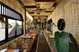 Tuỳ vào diện tích không gian nhà hàng mà bạn lựa chọn cách thiết kế bày trí nội thất sao cho phù hợp.